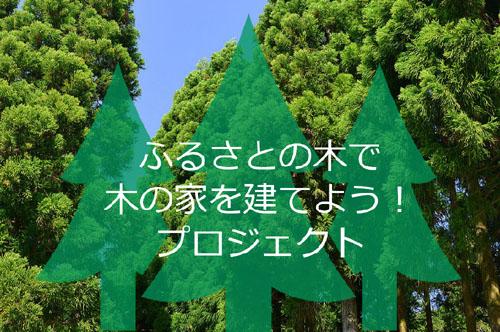 ふるさとの木で木の家を建てよう!