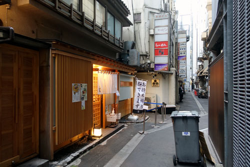 路地裏の名店