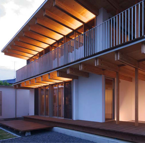 木骨の白い家 その1 間接照明