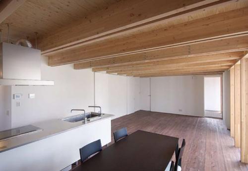 木骨の白い家 その4 子世帯棟のLDK