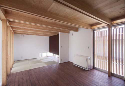 木骨の白い家 その5 親世帯棟のLDK
