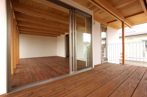 木骨の白い家 その7 テラス