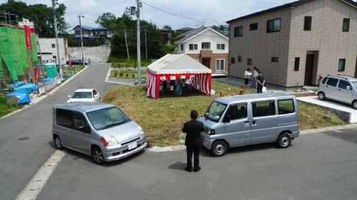 地鎮祭 秋田の住宅