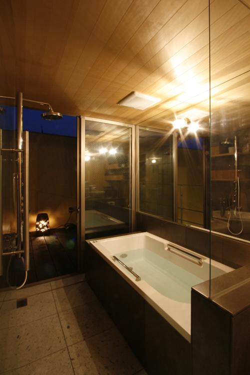 夜の浴室 中国黄土の家 その10