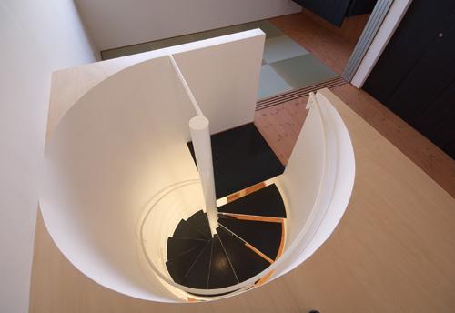 よつばcafe その9 螺旋階段の見下ろし