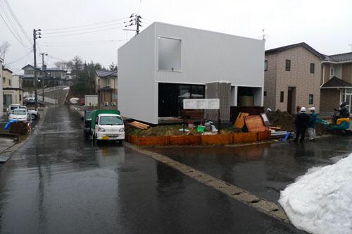 秋田の住宅 まもなく完成