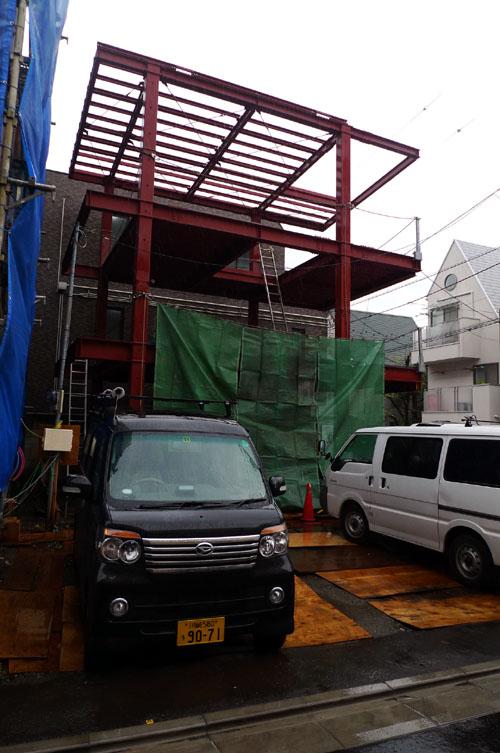 武蔵小山の住宅 中間検査